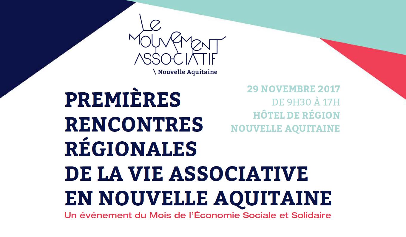 Rencontres régionales de la vie associative en Nouvelle-Aquitaine