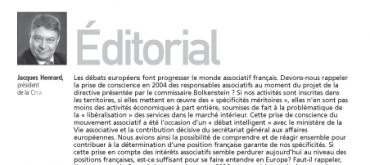L'Europe et les associations – n°10