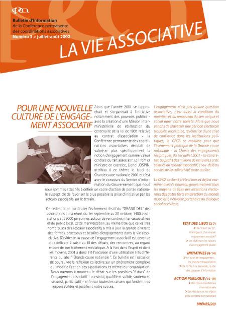 [N°3] : Pour une nouvelle culture de l'engagement associatif