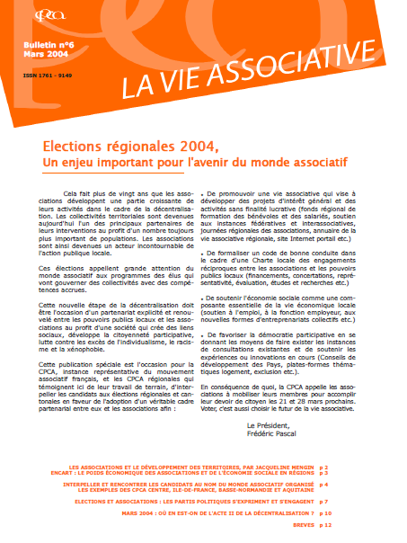 [N°6] :  Elections régionales 2004