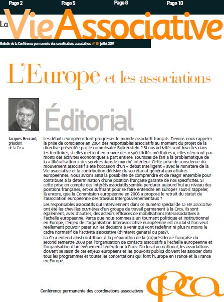 [N°10] : L'europe et les associations