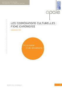 Publications du Cnar Culture sur des expériences de coopérations culturelles