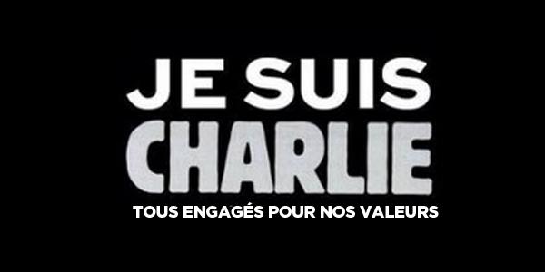 Tous engagés. Pour Charlie. Pour nos valeurs.