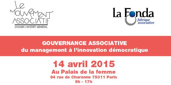 14 avril 2015 – Gouvernance associative, du management à l'innovation démocratique