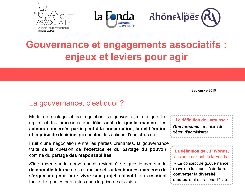 Le Mouvement associatif Rhône-Alpes : gouvernance et engagements associatifs