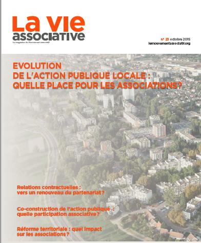 [N°23] : Evolution de l'action publique locale : quelle place pour les associations ?