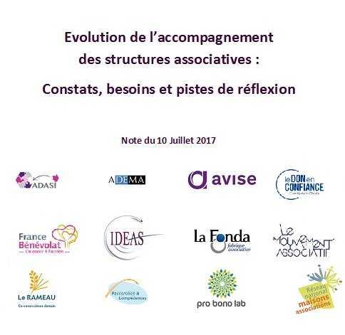 Evolution de l'accompagnement des structures associatives : Constats, besoins et pistes de réflexion