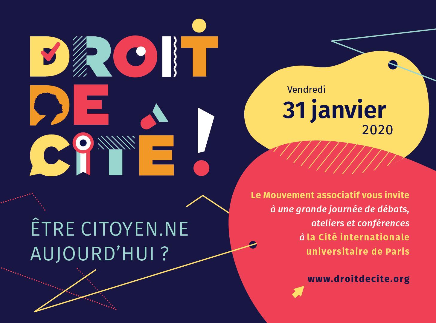 DROIT DE CITÉ !  Une grande journée pour les acteurs et partenaires de la vie associative
