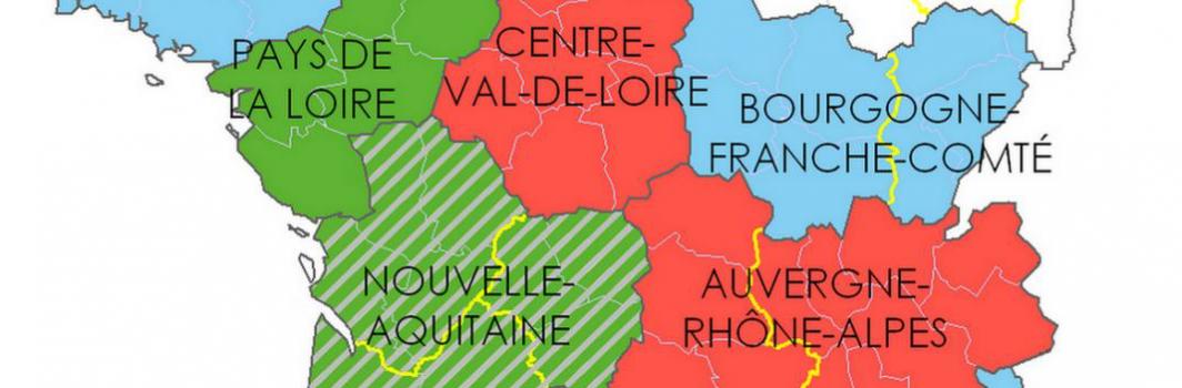 Nouvelle carte des France des DLA D et R 2017-2019