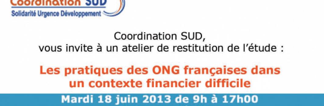 """Coordination Sud : """" Les pratiques des ONG françaises dans un contexte financier difficile """""""