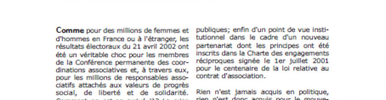 [N°4] : Associations et démocratie, les fondements d'un nouveau contrat social et politique?