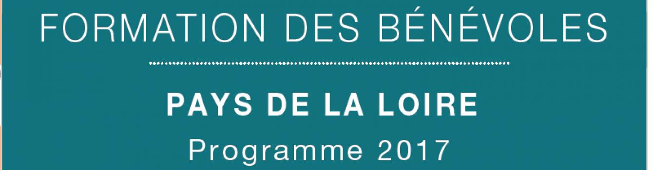 Formation des bénévoles – Pays de la Loire – 2017