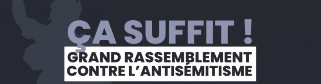 Mobilisation pour « dire non à l'antisémitisme »