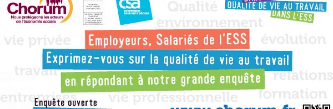 Chorum : baromètre sur la qualité de vie au travail dans l'ESS