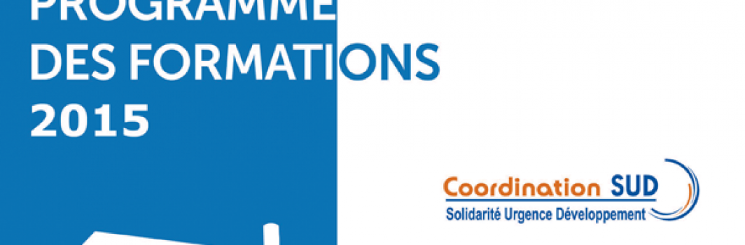 Coordination Sud – Formations 2015
