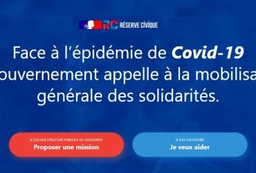 COVID-19 : lancement de la plateforme #JeVeuxAider