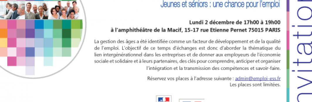 """UDES : """"Jeunes et séniors une chance pour l'ESS"""""""